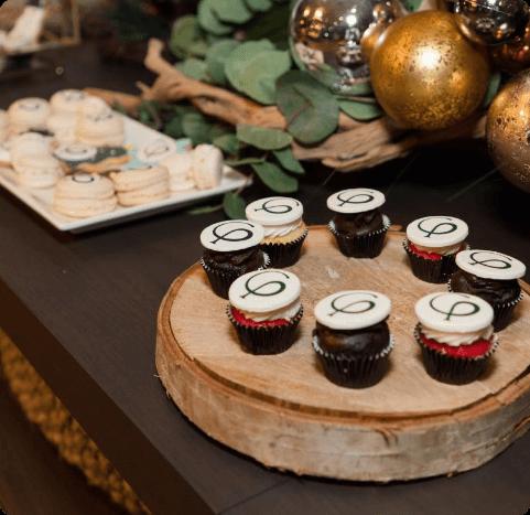 mini cupcake avec logo impression comestible